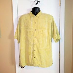 Tommy Bahama Palm Trees Silk Button Down Shirt